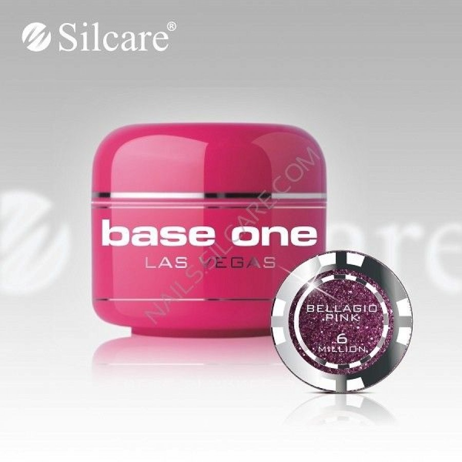 Gel uv Color Base One Silcare Las Vegas Bellagio Pink 06