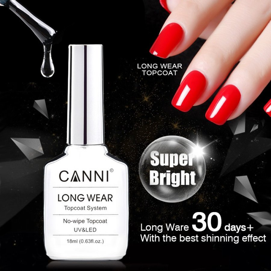 Top Coat CANNI LONG WEAR fara degresare 18 ml